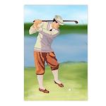 Vintage golfer Postcards (Package of 8)