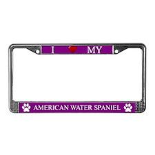 Purple I Love My American Water Spaniel Frame