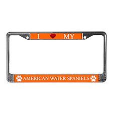 Orange I Love My American Water Spaniels Frame