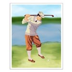 Vintage golfer Small Poster