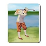 Vintage golfer Mousepad