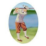 Vintage golfer Ornament (Oval)