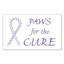 Violet Paws Cure Rectangle Decal