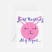Just Resting My Eyes Greeting Cards (Pk of 10)