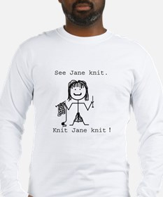 SEE JANE KNIT/SEE JANE FROG: Long Sleeve T-Shirt
