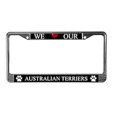 Black We Love Our Australian Terriers Frame