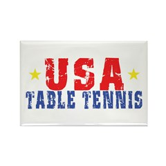USA Table Tennis Rectangle Magnet (100 pack)