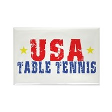 USA Table Tennis Rectangle Magnet