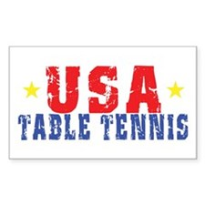 USA Table Tennis Rectangle Decal