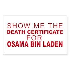 Osama Bin Laden Dead Decal