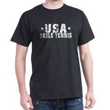 USA Table Tennis Black T-Shirt