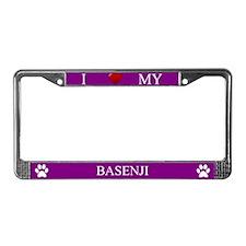 Purple I Love My Basenji Frame