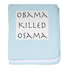 Obama Killed Osama baby blanket