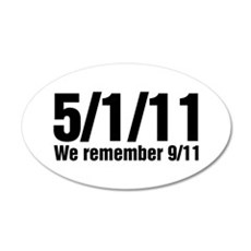 We Remember 9/11 22x14 Oval Wall Peel