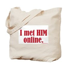 I Met HIM Online Tote Bag