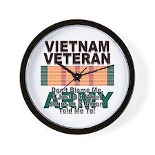 Vietnam Veteran Army Wall Clock