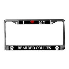 Black I Love My Bearded Collies Frame