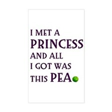 The Princess and the Pea Rectangle Decal