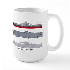 USS Lexington CV-16 CVA-16 Mug
