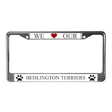 White We Love Our Bedlington Terriers Frame