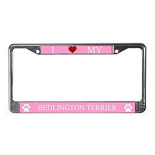 Pink I Love My Bedlington Terrier Frame