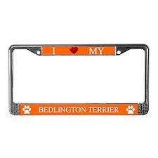 Orange I Love My Bedlington Terrier Frame