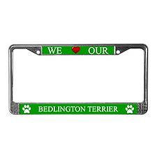 Green We Love Our Bedlington Terrier Frame