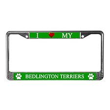 Green I Love My Bedlington Terriers Frame