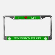 Green I Love My Bedlington Terrier Frame