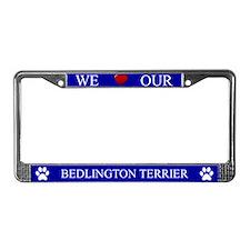 Blue We Love Our Bedlington Terrier Frame