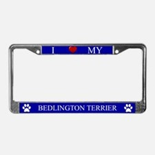 Blue I Love My Bedlington Terrier Frame