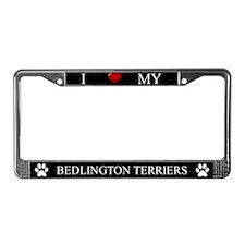 Black I Love My Bedlington Terriers Frame
