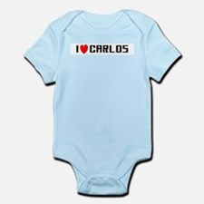 I Love Carlos Infant Creeper