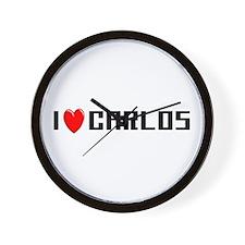 I Love Carlos Wall Clock