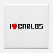 I Love Carlos Tile Coaster