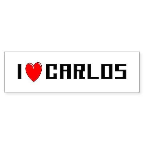 I Love Carlos Bumper Sticker