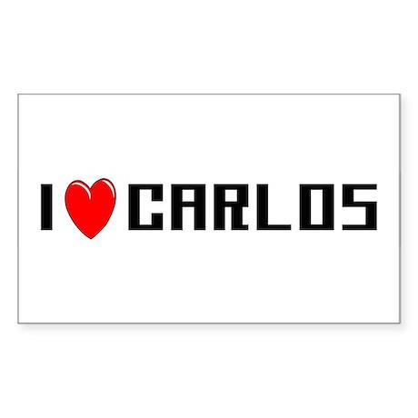 I Love Carlos Rectangle Sticker