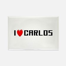 I Love Carlos Rectangle Magnet