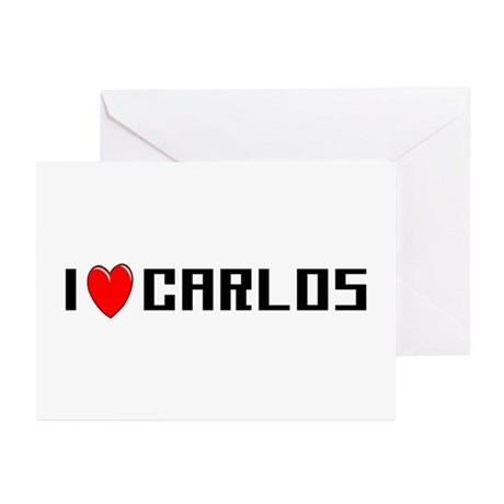 I Love Carlos Greeting Cards (Pk of 10)