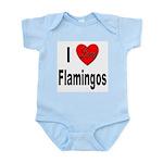 I Love Flamingos Infant Creeper