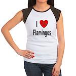 I Love Flamingos (Front) Women's Cap Sleeve T-Shir