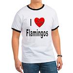 I Love Flamingos (Front) Ringer T