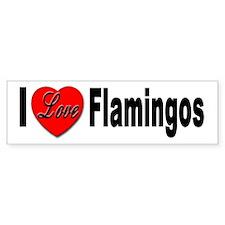 I Love Flamingos Bumper Bumper Sticker