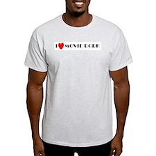 I Love Movie Dork Ash Grey T-Shirt
