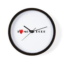 I Love Movie Dork Wall Clock