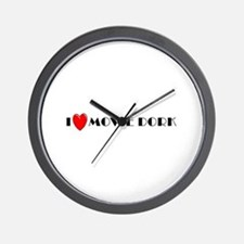 I Love Movie Dork Wall Clock