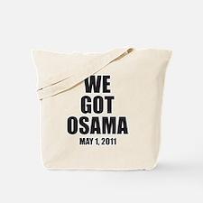 Funny We got osama Tote Bag