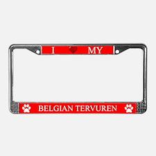 Red I Love My Belgian Tervuren Frame