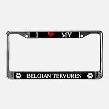 Black I Love My Belgian Tervuren Frame