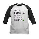 The Princess and the Pea Kids Baseball Jersey